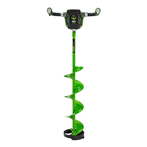 ION 39250 8' R1 Electric Ice Auger, Green/Black