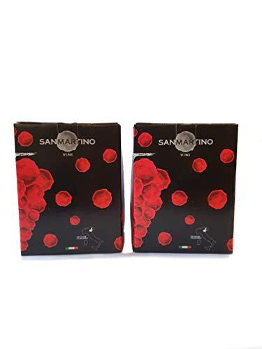 Bag in Box Vino Refosco Peduncolo Rosso IGP 12% 5 L+ Bag in Box Vino Cabernet 12% 5 L - San Martino Vini