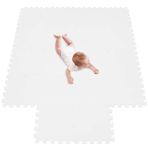 Tappeto da Fitness a Puzzle Set di 18 Pezzi | Superficie di Protezione per Pavimenti | materassino per Palestra, Workout, Ginnastica | Tappetino Facile da Pulire | Efficace Contro i liquidi e Urti