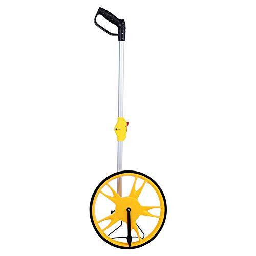 Messrad, Rolltachos Laufmessrad für Vermessung Meßrad Entfernungsmessrad mechanisches Abstandsmessrad mit klappbarem Griff