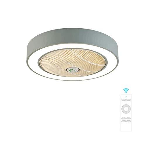 Slz deckenventilator deckenleuchte kreative deckenleuchte LED dimmbare deckenventilator mit beleuchtung und fernbedienung stille kindergarten schlafzimmer (60 * 24 cm),Gray