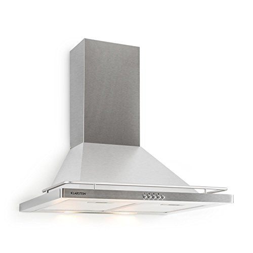 Klarstein Timea Cappa Aspirante da cucina a parete in acciaio (60 cm, capacit di aspirazione pari a...