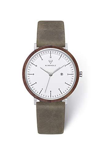 Kerbholz Damen Analog Quarz Uhr mit Leder Armband 4251240409252