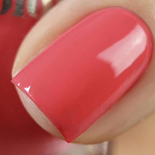 Vishine Gel Nail Polish UV Nail Lacquer Gel , Coral Pink Color Gel Nail Polish, Cured with UV LED Lamp 0.5 fl oz