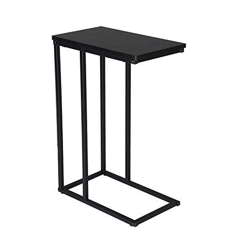 WOLTU TSG17sz Tavolino Laterale da Divano Tavolo da caff Supporto Piano D'appoggio in Legno Metallo