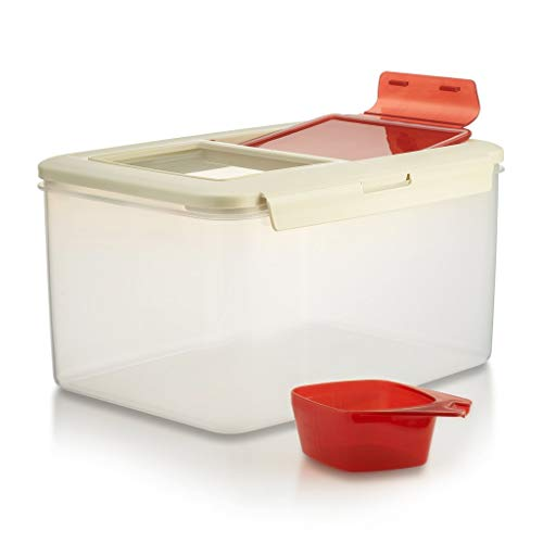 Komax Biokips Large Food Storage Container | 20-lb (11-L) Dry Food, Flour, Rice Container | Pet Food Storage Container | Dog Cat Food Bin | Large Containers With Lids & Scooper | BPA-Free