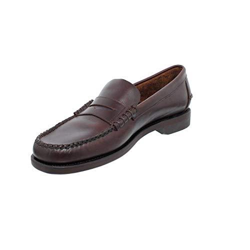 Sebago Classic Dan Waxy, Mocasines (Loafer) Hombre, Marron (Dk Brown 901), 40