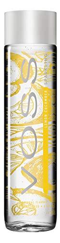 Voss Water Lemon Cucumber 375 ml, natürlich-fruchtiger Geschmack, 12er Pack (Einweg, 12 x 375 ml)