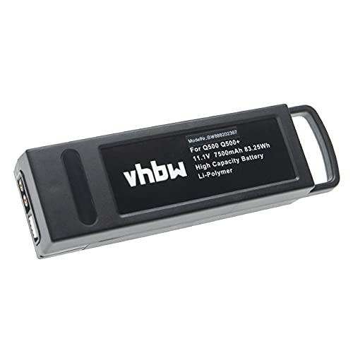 vhbw Batteria Compatibile con Yuneec Typhoon RC Drone Q500+, Q500 4K Drone quadricottero multicottero (7500mAh, 11,1V, Li-Poly)