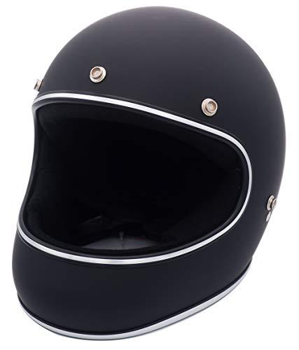 ダムトラックス(DAMMTRAX) バイクヘルメット フルフェイス AKIRA マットブラック Lサイズ(59CM~60CM)