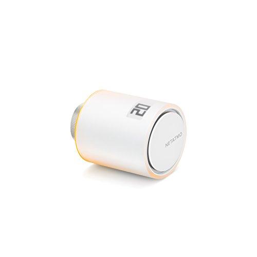 Netatmo Tête Thermostatique Connectée et Intelligente - Accessoire pour le Thermostat Intelligent et pour le Pack pour chauffage collectif, NAV -FR