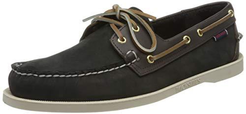Sebago Portland Spinnaker NBK FGL, Zapatos de Barco Hombre, Marrón Black Dk Brown, 41 EU