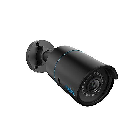 Reolink 5MP Telecamera PoE Esterno con Rilevamento di Persone/Veicoli, Time-Lapse, Impermeabile IP66, Rilevamento Movimento, Visione Nottura IR 30m, Audio e Slot per Scheda Micro SD, RLC-510A Nero