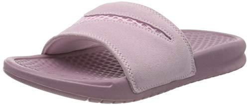 Nike Wmns Benassi JDI LTR Se, Zapatos de Playa y Piscina para Mujer, Multicolor (Pink Foam/Pink Foam/Plum Dust 600), 36.5 EU
