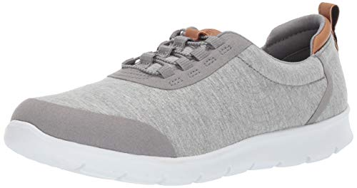 Clarks Women's Step AllenaBay Sneaker, Grey Heathered Fabric, 9 M US