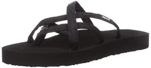 Teva Women's Olowahu Flip-Flop (38 M EU / 7 B(M) US, Mix Black on Black)