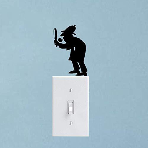posterguo Lichtschaltersticker 4pcs Cartoon Wall Switch Aufkleber Decals Vinyl Dekorieren Sie Ihr Zuhause PVC Art Aufkleber Home Decoration Pink