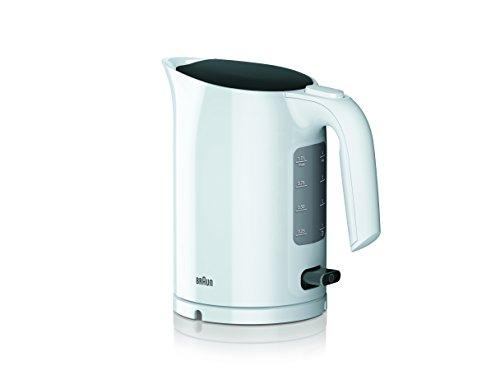 Braun WK 3000 WH Wasserkocher   Füllmenge 1,0 l   2.200 Watt   Schnellkochsystem   Herausnehmbarer Anti-Kalk-Filter   Große Wasserstandsanzeige   BPA Frei   Weiß