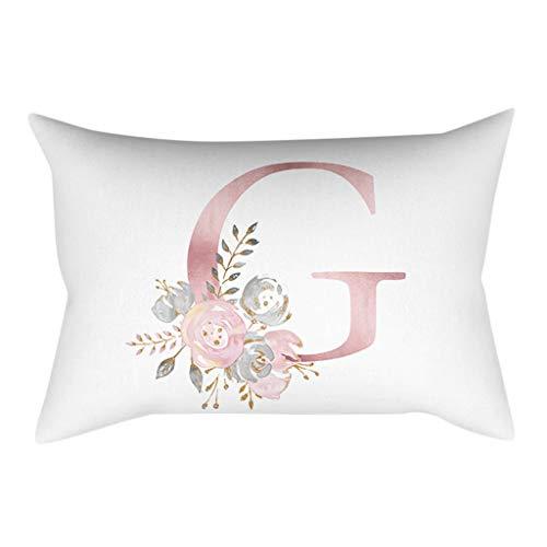 GOKOMO Lettere in Polvere Oro Rosa Cuscino Decorativo per Bambini in Camera da Letto per Bambini...