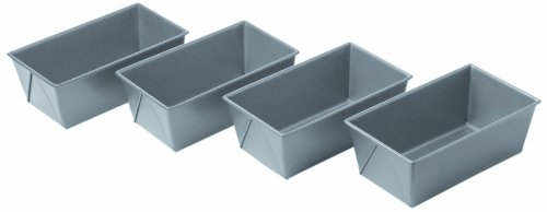 Chicago Metallic Commercial II Non-Stick Mini Loaf Pan Set, 6-Inch-by-3.5-Inch, 4-Count