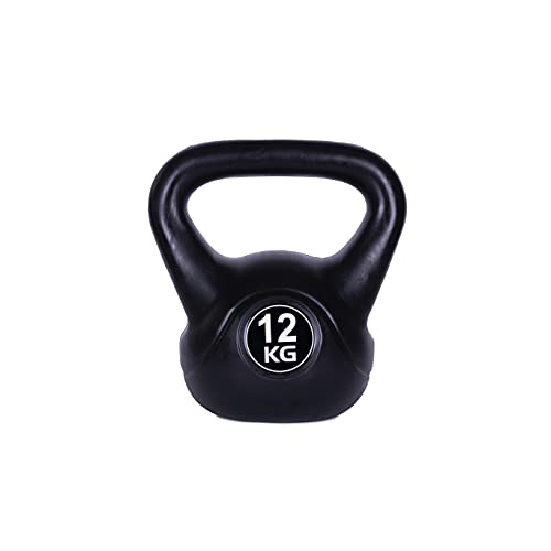 Kettlebell schwarz Kugelhantel für Krafttraining Crossfit Fitness (verfügbar in 6 kg - 16 kg) (12)