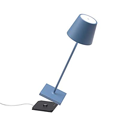 Rechargeable and dimmable lamp in painted aluminum, polycarbonate diffuser and LED light source. The Poldina Pro has an IP54 protection rating suitable for both indoor and outdoor use The lithium battery has a guaranteed duration of more than 9 hours...