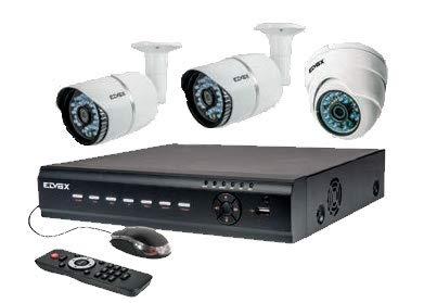 Vimar Elvox H46550.812.01 Kit di videosorveglianza AHD con DVR a 8 canali e 3 telecamere HD