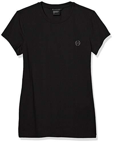 ARMANI EXCHANGE 8nyt74 T-Shirt, Nero (Black 1200), Large Donna