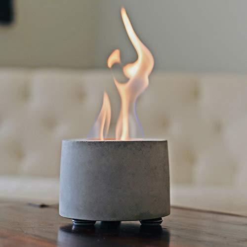 Colsen Tabletop Bio Ethanol Rubbing Alcohol Fireplace Indoor Outdoor Fire Pit Portable Fire Concrete Bowl Pot Fireplace