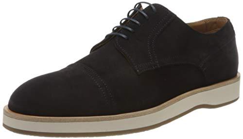 Boss Oracle_derb_sdctst, Zapatos de Cordones Derby Hombre, Azul (Dark Blue 402), 42.5 EU