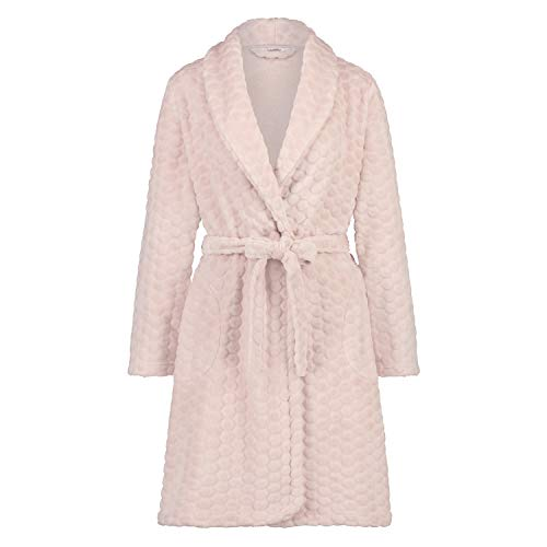 HUNKEMÖLLER Damen Bademantel Fleece Rose XS/S