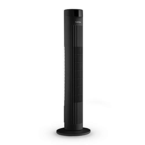 Klarstein Skyscraper 2G Standventilator Turmventilator Säulenventilator (mit Fernbedienung, leise, Timer, 3 Geschwindigkeiten, Oszillation, Staubfilter, Turmdesign) schwarz