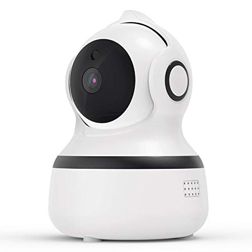 Telecamera Wi-Fi Interno, 1080P Videocamera Sorveglianza Interno Wifi con Audio Bidirezionale e Visione Notturna, Rilevamento Movimento e Allarme via App, Baby monitor