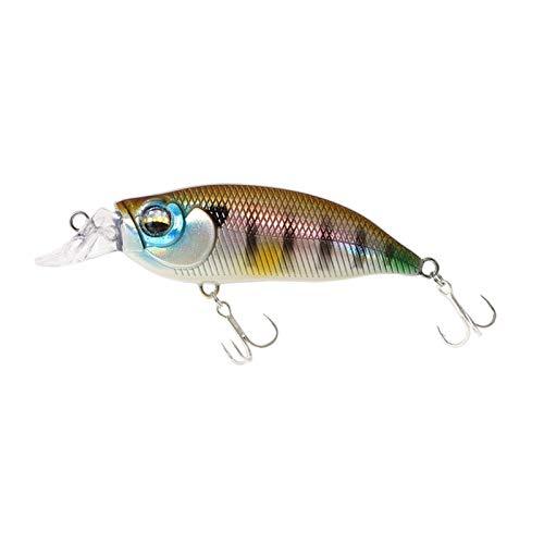 HSLINU 5 Pz Esche da Pesca per Piccoli pesciolini Jig Artificial Topwater Bass Esche Galleggianti Esche da Nuoto bioniche Realistiche Esche dure Trota Persico 57mm / 8g (Color : 2, Size : 57mm)