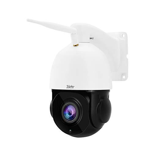 Telecamera WIFI Esterno IP PTZ, Telecamera Dome 5MP, Videocamera Sorveglianza Esterno, Zoom Ottico 20x, Tracciamento umanoide, Audio Bidirezionale, Supporta la scheda Micro SD da 128 GB