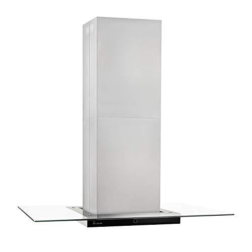 Cappa aspirante ad isola (90 cm, acciaio inox, vetro trasparente, extra silenzioso, classe...