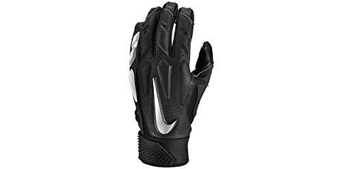 Nike Men's D-Tack 6 Lineman Gloves (X-Large, Black/White/Chrome)