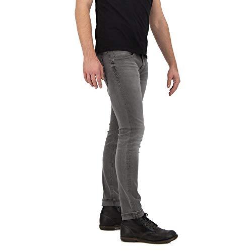 Kuyichi Herren Jeans Kale Skinny Bio-Baumwolle, Rebel Grey, 32/34