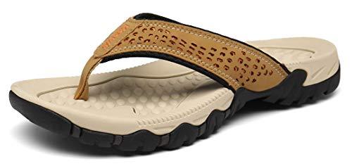 Chanclas Hombre Verano Zapatillas Flip Flops Sandal Zapatos de Playa y Piscina Caqui43