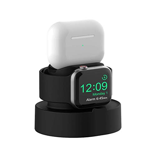 SOKUSIN Charging Stand for Apple Watch, Holder Easy Installation for Apple Watch 38/40/42 / 44mm iWatch 1/2/3/4/5, Charging and Night Mode Stand, AirPods Pro Charger Dock (Cable NOT Included)