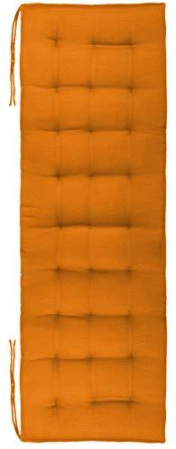 Brandsseller Cuscino per panchina, per esterni, 27 pezzi, trapuntatura circa 140 x 40 x 4 cm, arancione