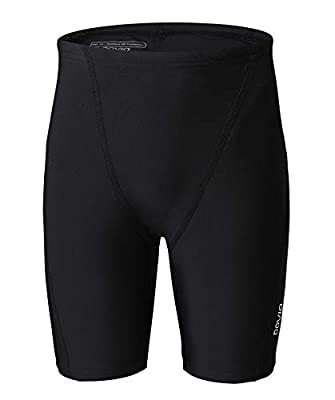 Boys swim team trunks work great for swim team practice,swimming training,playing on the beach or summer club. UPF 50+, excellent properties, protect against UV rays from the sun. Draw cord waist for a custom fit and comfortable, non-binding. Flat lo...