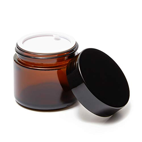 2 Ounce Glass Jars with Black Lids