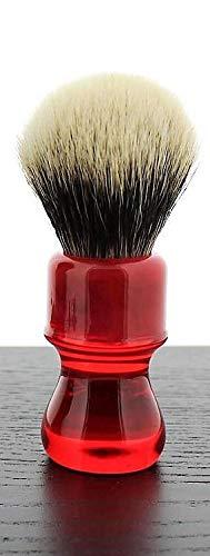 Yaqi Ruby Handle Shaving Brush, Silvertip Badger