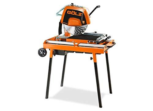 GÖLZ MS350 Steintrennmaschinen MS 350 Compact Heavy Duty Stone Cutting Machine – Made in Germany, Black, Orange