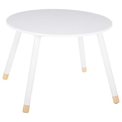 Tavolino rotondo per bambini in legno - Colore: BIANCO