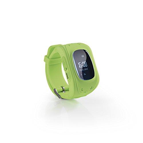 EASYmaxx 457 Kinder Smartwatch   Smart Watch mit GPS Funktion, Elektrisches Digital Armband für Jungen und Mädchen   SOS Telefon, Standortlokalisierung, Tracker [Grün]