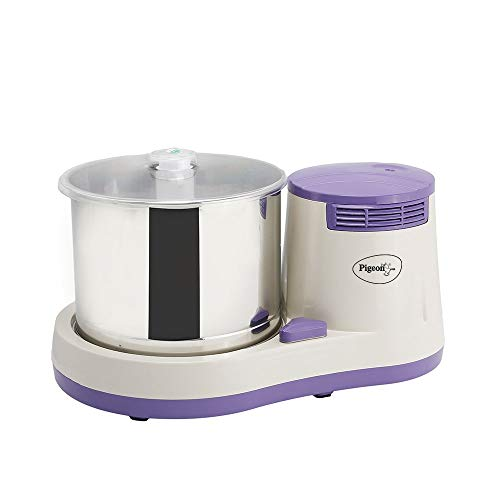 Pigeon by Stovekraft Lavio 2 Litre Table Top Wet Grinder Machine with Coconut Scraper and Atta...