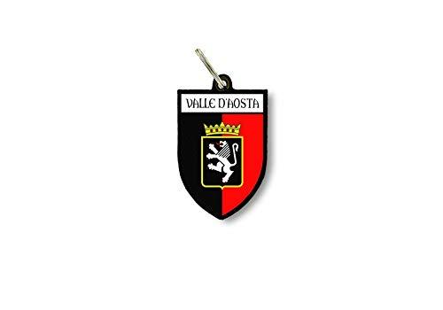Portachiavi uomo donna auto moto Bandiera citta stemma italia valle d'aosta