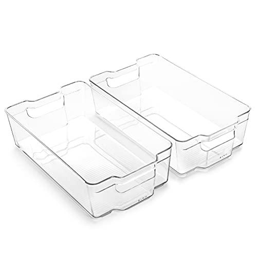 BINO   Stackable Plastic Storage Bins, X-Large - 2 Pack   THE...